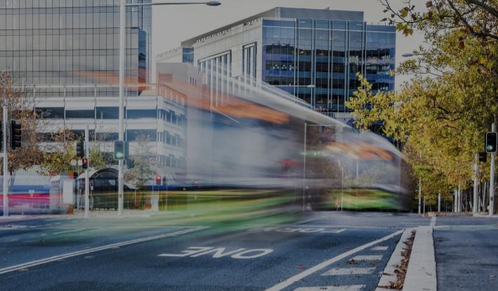 A tram in Canberra