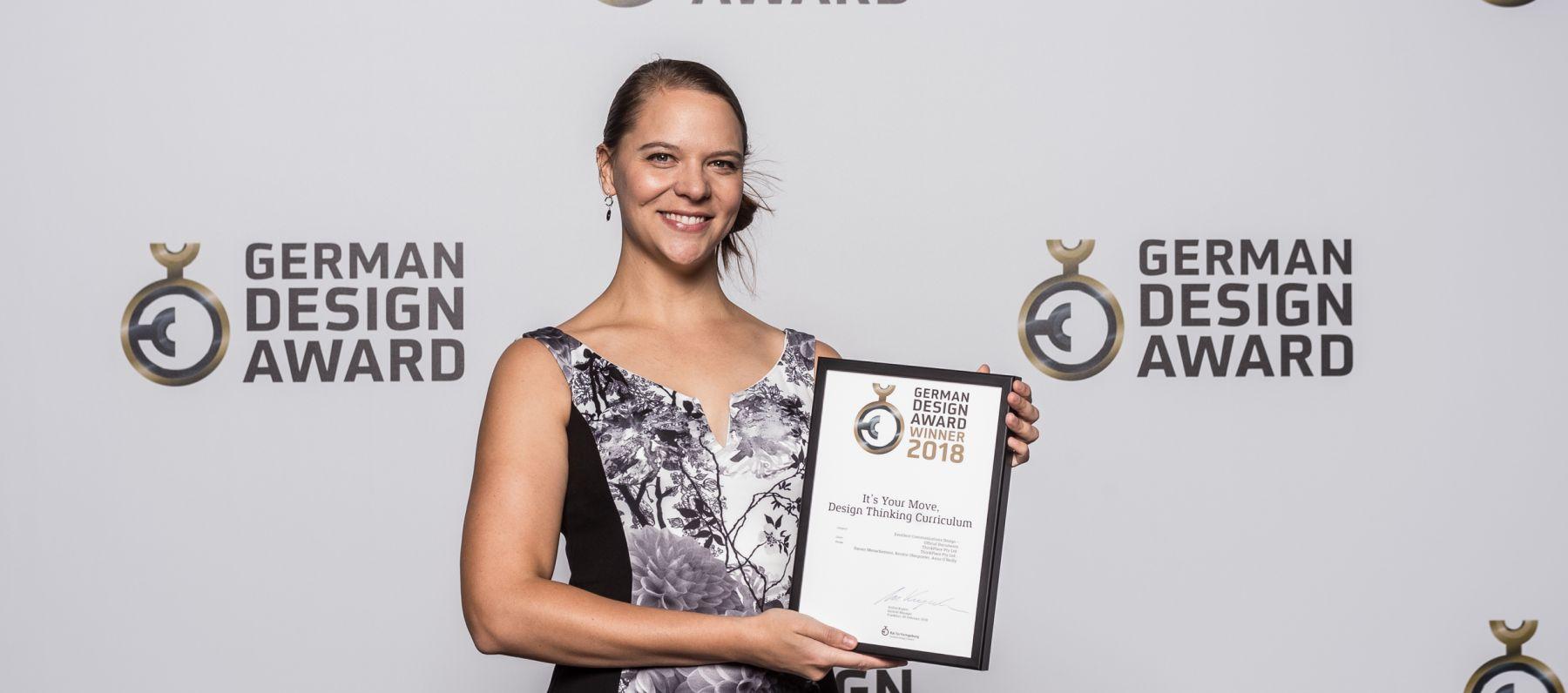 Kerstin Oberprieler with her German Design Award
