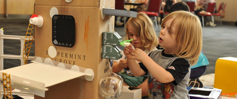 Kids enjoying their own design challenge