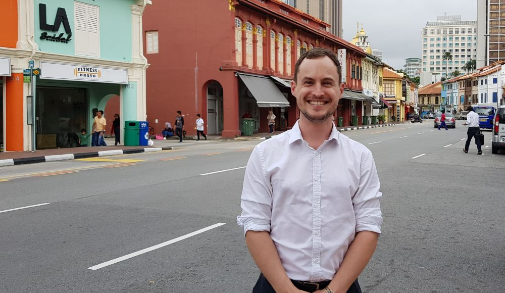 Bill Bannear in Singapore