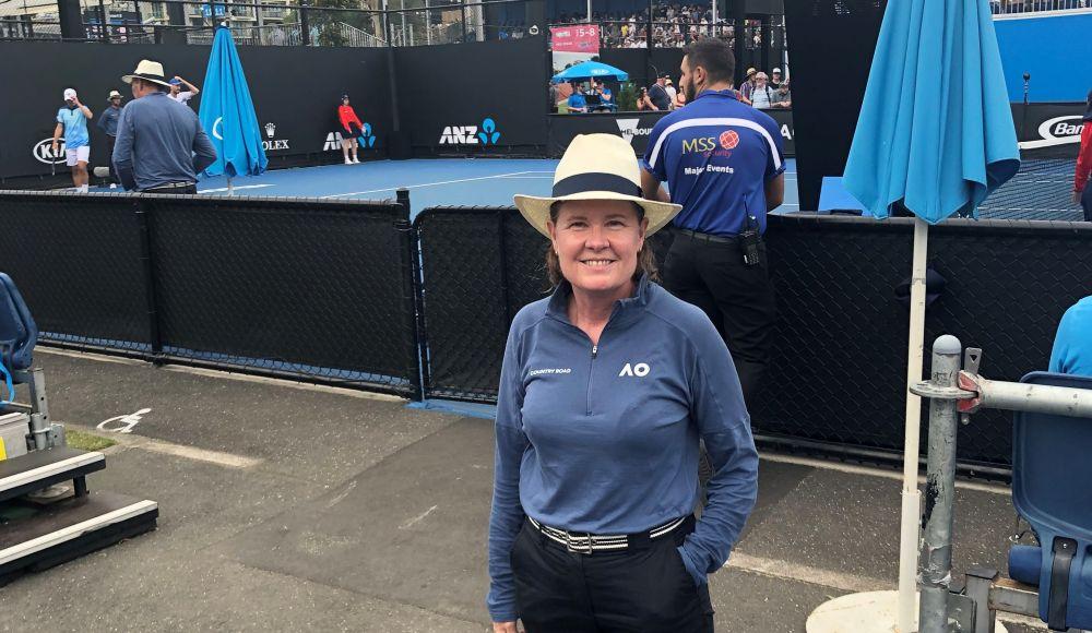 ThinkPlace designer Susan Atkinson at the tennis