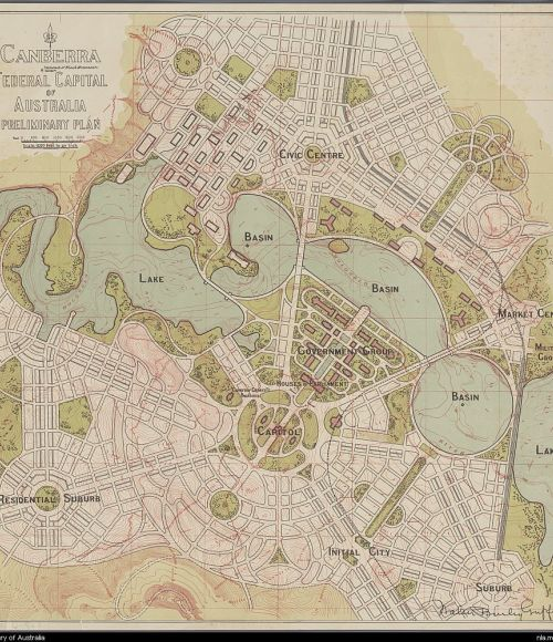 Walter Burley Griffin 1913 plan for Canberra