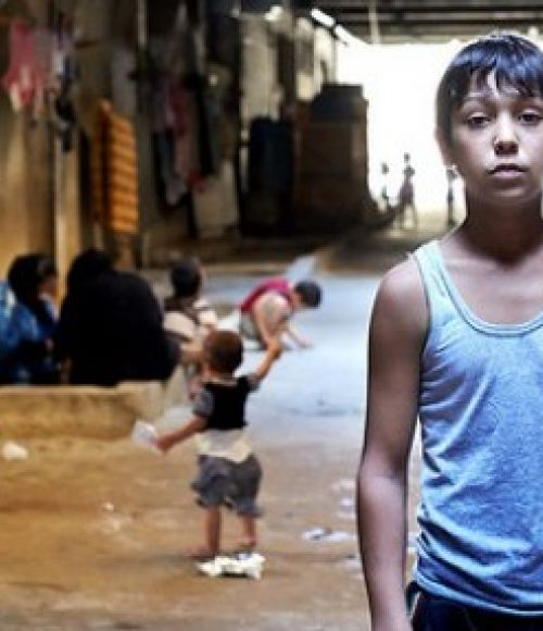 A child refugee