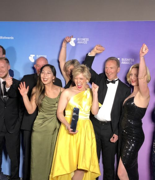ThinkPlace designers with their award
