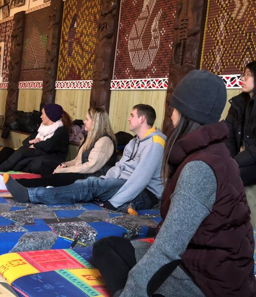 The ThinkPlace team at the noho marae